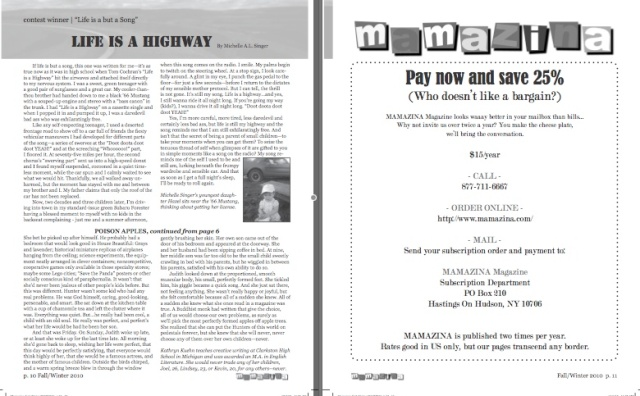 Mamazina Magazine, pages 10 and 11