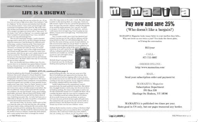 Mamazina Magazine, pages 10 and 11