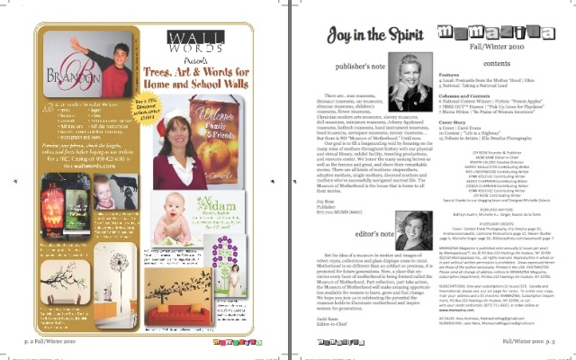 Mamazina Magazine, pages 2 and 3
