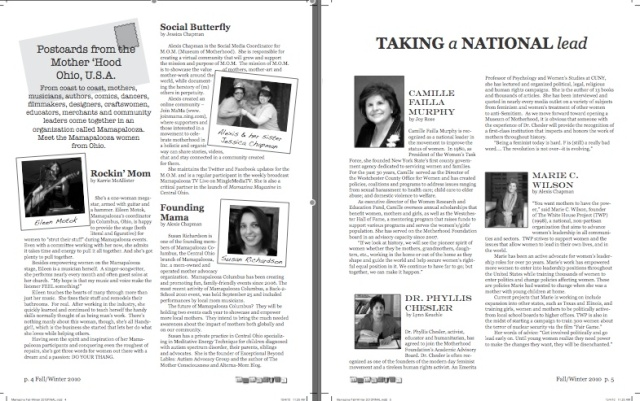 Mamazina Magazine, pages 4 and 5